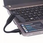 Ventilateur électrique flexible USB portable alimenté 2 pales du Noir - wewoo.fr