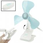 Ventilateur électrique Très faible puissance et de vent fort Table avec commutateur clip ventilateur, Diamètre: 320mm FC01-32...