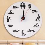 Horloge murale Sex Position / Nouveauté adulte - wewoo.fr