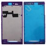 Boitier intégral Sony Xperia Z logement Ultra / XL39h C6802 avant Cadre de plaque lunette LCD Violet - wewoo.fr
