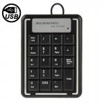 Mini clavier USB non synchrone numérique de l'ordinateur portable avec 19 touches - wewoo.fr