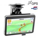 GPS voiture 4,3 pouces TFT écran tactile Navigator haut-parleur intégré 4 Go de mémoire et carte Sans Bluetooth Résolutions: ...