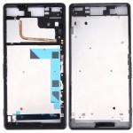 Boitier intégral Sony Logement avant Plate Bezel Frame LCD de remplacement Xperia Z3 / L55W D6603 Noir - wewoo.fr