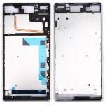 Boitier intégral Sony Logement avant Plate Bezel Frame LCD de remplacement Xperia Z3 / L55W D6603 Blanc - wewoo.fr