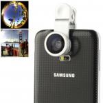 Objectif iPhone Multifonction Universal 180 degrés Fisheye + macro 0.67x Grand angle avec clip Samsung Galaxy S5 / G900 i9500...