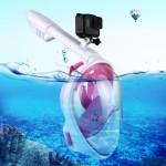 Masque de plongée GoPro 260mm Tube Sports nautiques Équipement Full Dry Snorkel HERO6 / 5/5 Session 4 4/3 + 3/2/1, Xiaoyi et ...