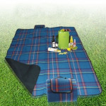 Tapis de camping 200x150cm extérieur Plage Mat pique-nique Couverture Bleu - wewoo.fr