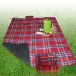 Tapis de camping 200x150cm Red Outdoor Beach Mat pique-nique Couverture Rouge - wewoo.fr