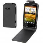Housse en cuir HTC Vertical Holster Flip Desire C Noir - wewoo.fr