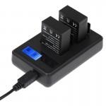 Chargeur Batterie GoPro Écran LCD double Batteries HERO3 + / 3 AHDBT-301, AHDBT-302, Affiche Capacité de charge - wewoo.fr