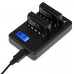 Chargeur Batterie GoPro Écran LCD double Batteries HERO4 AHDBT-401, Affiche Capacité de charge - wewoo.fr