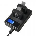 Chargeur Batterie GoPro SJCAM SJ7000 / SJ6000 SJ5000 SJ4000 écran double de piles LCD, écrans Capacité charge Noir - wewoo.fr