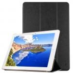Housses tablette CHUWI Hi12 givré Texture Retournement horizontal couleur solide étui en cuir avec support à trois pliant noi...