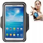 Brassard Samsung PU cas avec de sport écouteurs Trou Galaxy Mega 6.3 / i9200 en dessous 6,3 pouces Téléphones Noir - wewoo.fr