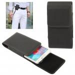 Housse en cuir Galaxy S5 Étui à rabat vertical avec clip de ceinture Samsung / G900 noir - wewoo.fr
