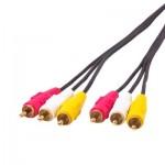 Cable RCA AV Qualité normale Audio vidéo stéréo Longueur: 1,5 m - wewoo.fr