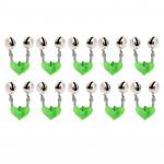Alarme Poisson 10 PCS accessoires de pêche Bells jumeaux clip sur la canne à appât alarme, couleur aléatoire Livraison - wew...