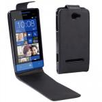 Housse en cuir HTC Cas Basculement vertical Zenith / 8S Noir - wewoo.fr