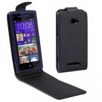 Housse en cuir HTC Cas Basculement vertical Accord / 8X Noir - wewoo.fr