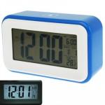 Réveils Multi Function Grand écran Réveil avec calendrier et LCD Light & Snooze Touch Bleu - wewoo.fr