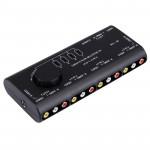 Splitter RCA AV-109 Multi Box AV Switcher Audio-Vidéo Signal + 3 Câble RCA, entrée 4 du groupe et 1 système de sortie Noir -...