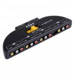 Splitter RCA AV4-SVIDÉO Multi Box AV Switcher Audio-Vidéo Signal + 3 Câble RCA, entrée 4 du groupe et 1 système de sortie Noi...