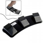 Gadgets USB PC Triple Action Foot Switch Noir - wewoo.fr
