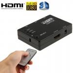 Switch HDMI Full HD 1080P 3D 3x1 Commutateur avec télécommande IR - wewoo.fr