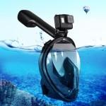 Masque de plongée GoPro 220mm Tube Sports nautiques Équipement Full Dry Snorkel HERO6 / 5/5 Session 4 4/3 + 3/2/1, Xiaoyi et ...