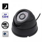 Caméra CCD à Carte Mémoire USB de détection mouvement vision nocturne Accueil dôme DVR sécurité avec fente TF, Soutien Enregi...