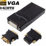 USB 2.0 vers DVI / VGA HDMI Adaptateur d'affichage, support Full HD 1080P, extensible jusqu'à 6 unités d'affichage - wewoo.fr