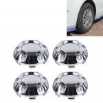 Emblème de voiture 4 PCS Accessoires Styling en métal badge autocollant moyeu roue Caps Centre couverture N1772 - wewoo.fr