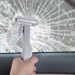 Marteau d'urgence AC-859 ceinture de sécurité Cutter fenêtre disjoncteur automatique secours outil idéal pur métal voiture -...