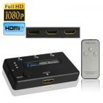 Switch HDMI 3 Amplificateur Port 1080P Switch, version 1.3, avec télécommande noir - wewoo.fr