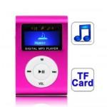 Lecteur MP3 TF Micro SD fente carte avec écran LCD, clip en Magenta - wewoo.fr
