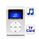 Lecteur MP3 TF Micro SD Emplacement carte avec écran LCD, clip en argent - wewoo.fr