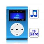Lecteur MP3 TF Micro SD Carte avec écran LCD, clip en Baby Blue - wewoo.fr