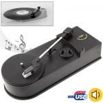 Convertisseur de vinyle EC008B, USB phonographe / Platine Platines lecteur audio, support Turntable Convertir LP Record CD ou...