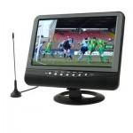 Moniteur LCD 7,5 pouces TFT couleur TV analogique avec large angle de vue, Support carte SD / MMC, USB Flash Disk Noir - wew...