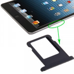 Pièces détachées iPad Mini WLAN + Celluar Version Carte Version originale SIM Plateau Support Noir - wewoo.fr