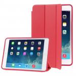 Smart Cover iPad Mini 3-pliant naturellement traité en cuir Case avec sommeil / réveil fonction et support 2 Retina Rouge - ...