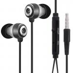 Ecouteur OVLENG mains libres stéréo écouteurs avec micro Longueur: 1,2 m Noir N1749