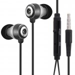 OVLENG Stereo Hands-free Earphone with Mic, Length: 1.2m(Black)