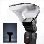 Caméra FB-10X Universal Top Flash Light Bounce Speedlite Focus Diffuseur avec 3 PCS amovible Couleur lumière réflecteur Noir ...