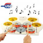 instruments de musique USB en silicone numérique MIDI Roll Up Drum Kit flexible musical les enfants, Modèle: W758, Taille: 57...