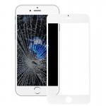 Vitre avant iPhone 7 plus écran externe Lentille en verre avec cadre de l'écran LCD blanc - wewoo.fr