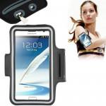 Brassard Galaxy Note Universal PU cas avec sport écouteurs Trou Samsung 5/4 / III II S6 EDGE PLUS, Sony Z2 Z1 Noir - wewoo.fr