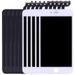 Écran LCD iPhone 6S Plus 5 PCS Noir + blanc 3 en 1 LCD cadre pavé tactile Assemblée Digitizer - wewoo.fr