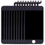 Écran LCD iPhone 6S 10 PCS 3 en 1 LCD + monture Touch Pad Assemblée Digitizer Noir - wewoo.fr