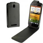 Housse en cuir HTC Haute Qualité Pure Color One SV Noir - wewoo.fr